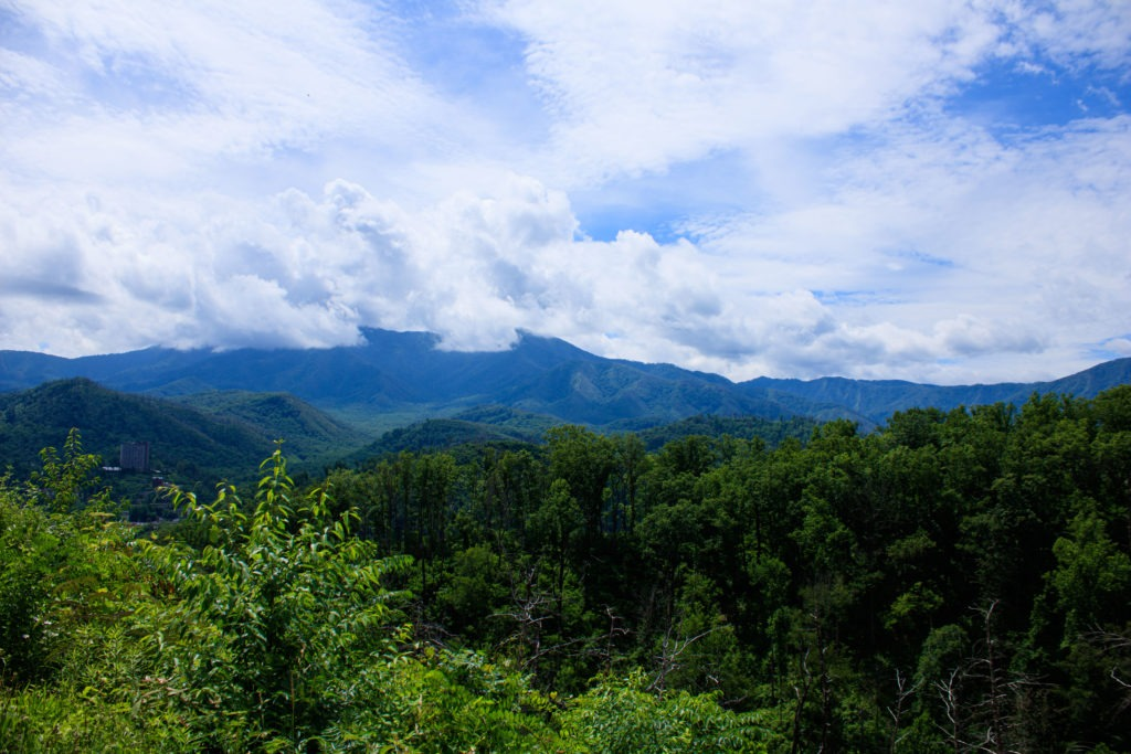 View of the Smoky Mountains.
